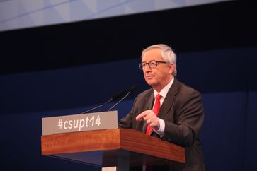 Jean-Claude Juncker auf dem CSU-Parteitag 2014 in Nürnberg