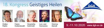 18. DGH-Kongress Geistiges Heilen vom 09. - 11.10.2020