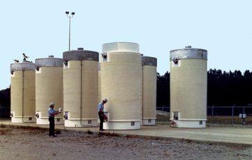 Castor Behälter mit radioaktivem Abfall in den USA