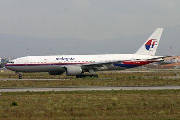 Die verunglückte Maschine, des Flugs MH 17 im Jahr 2011 auf dem Flughafen von Rom