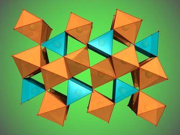 Struktur des neu entdeckten Eisenoxids Fe₅O₇ Quelle: Elena Bykova/Universität Bayreuth (idw)