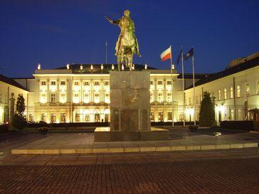 Polen: Warschauer Präsidentenpalast (polnisch Pałac Prezydencki)