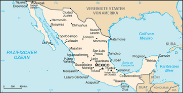 Karte von Mexiko Bild: de.wikipedia.org