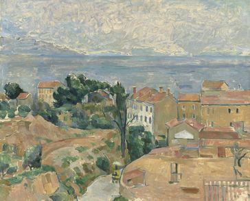 Blick auf L'Estaque von Paul Cézanne