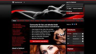 Screenshot von der JOYclub  Webseite