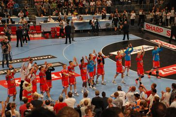 AG København nach dem Spiel um Platz 3&4 beim Final Four 2012.