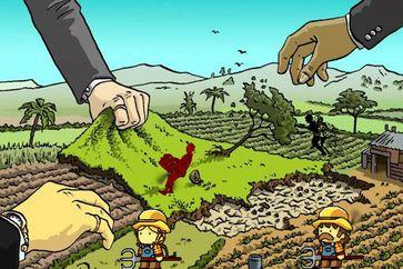 Eigentümer Westlicher und Fernöstlicher Konzerne kaufen den Boden des Planeten Erde (Symbolbild)