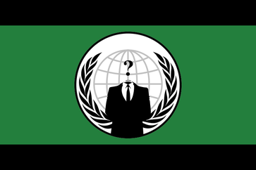 Die Flagge der Anonymous-Gruppe.