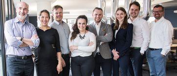 """Das deutsche Team der Silicon Valley Bank in Frankfurt / Bild: """"obs/Silicon Valley Bank"""""""