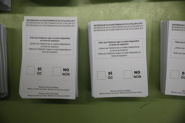 Katalonien: Stimmzettel zum Referendum