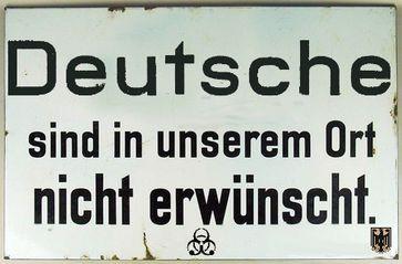 Deutsche sind in Deutschland nicht mehr willkommen (Symbolbild)