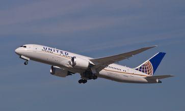 Eine Boeing 787-8 von United Airlines