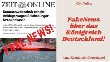 """Das Mainstream-Medium """"zeit.de"""" verbreitet FakeNews über das Königreich Deutschland."""