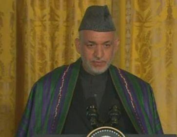 Karzai vor Journalisten im Weißen Haus. Bild: dts Nachrichtenagentur
