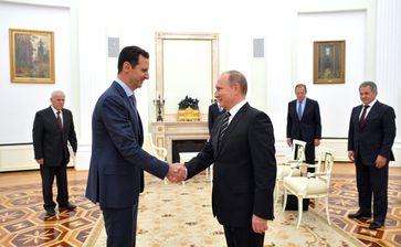 Baschar Assad und Wladimir Putin (2015)