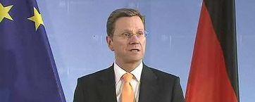Außenminister Guido Westerwelle vor Journalisten. Bild: dts Nachrichtenagentur