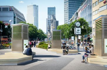 "CItyTrees am Kurfürstendamm, Berlin  Bild: ""obs/Green City Solutions"""
