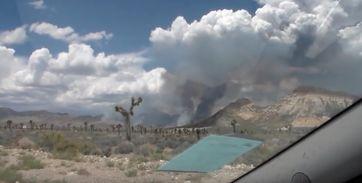 "Bild: Screenshot Youtube Video ""Area 51 Front (Line) Gate Visited and Filmed During Big Fire Smoke - FindingUFO"""