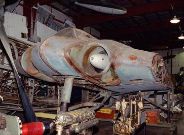 Rumpf der Ho IX V3 in der Smithsonian Institution Garber Restoration Facility (2000)