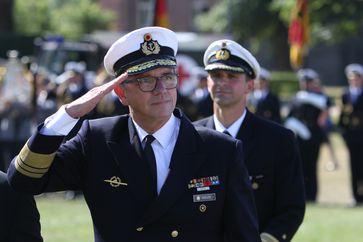 Vizeadmiral Andreas Krause (03.08.2019)  Bild: Bundeswehr / Björn Wilke Fotograf: Björn Wilke