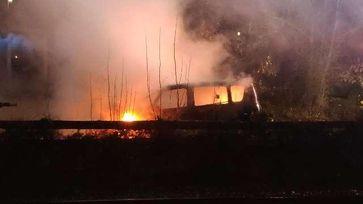 Brennendes Auto in Dollern Bild: Polizei