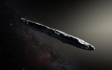 Bild: CC BY 2.0 / Hubble ESA / Artist's impression of the interstellar asteroid Oumuamua