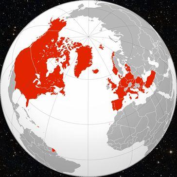 NATO Mitgliedsstaaten: Auch 2020 breitet sich das militärische Kriegsbündnis weiter aus.