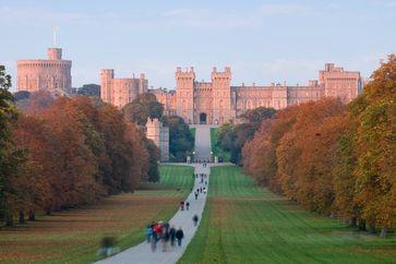 Windsor Castle bei Sonnenuntergang
