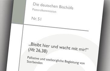 """Titelbild der Broschüre """"Bleibt hier und wacht mit mir!"""" (Mt 26,38). Bild: Deutsche Bischofskonferenz Fotograf: DBK"""