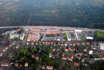 Luftbild des LKA & LfV Sachsen in Dresden