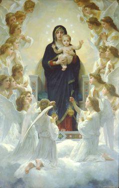 Die Jungfrau Maria mit Engeln, Gemälde von William Adolphe Bouguereau (Symbolbild)
