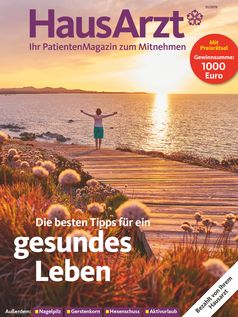 "Titelcover HausArzt Patientenmagazin, Ausgabe III/2019. Bild: ""obs/Wort & Bild Verlag - HausArzt - PatientenMagazin"""