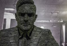 Schieferskulptur von Alan Turing. Bild: flickr.com/christopher brown