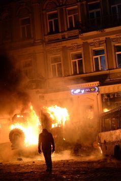 Ukraine: Euromaidan - Brennende Barrikaden (Januar 2014)