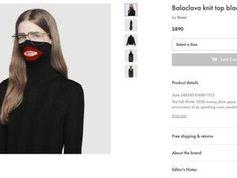 Screenshot des umstrittenen Pullovers auf der Gucci-Webseite.