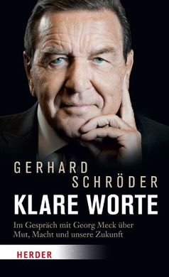 """Cover """"Klare Worte"""" von Gerhard Schröder"""