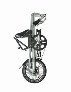 Strida Faltrad zusammengefaltet