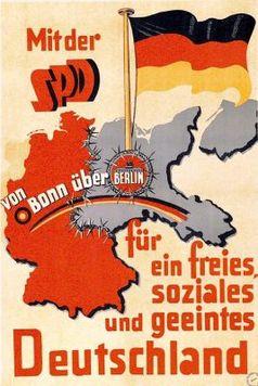 Wahlplakat der SPD ab 1949 in der Bundesrepublik Deutschland verwendet, heute verdrängt