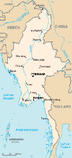 Karte von Birma Bild: Ras67 / de.wikipedia.org