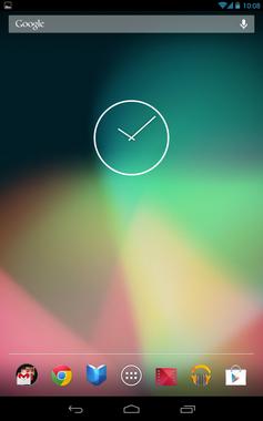 Screenshot von Android in Version 4.2.1 auf Google Nexus 7 mit WLAN und Mobilfunk. Bild: Google Inc. - wikipedia.org