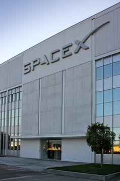 SpaceX Unternehmenszentrale in Hawthorne.