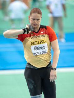 Nadine Kleinert bei den Hallenweltmeisterschaften 2010 in Doha.