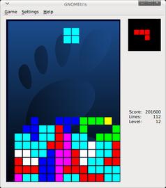 GNOMEtris: ein freier Klon von Tetris