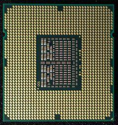 Unterseite eines Mikroprozessor