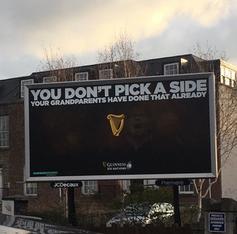 Plakat von Guinness hat Kontroverse ausgelöst.