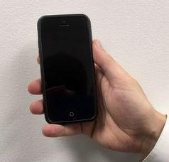 Kristall im Handy zeigt radioaktive Strahlung.