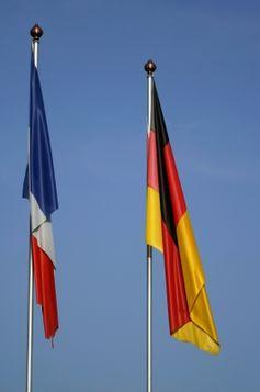 Flaggen Deutschland Frankreich
