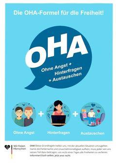 Die OHA-Formel für die Freiheit! Ohne Angst + Hinterfragen + Austauschen (Symbolbild)