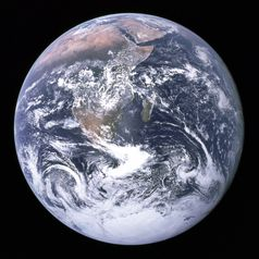 Die Erde, aufgenommen von Apollo 17 am 7. Dezember 1972