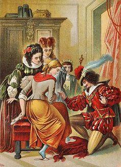 Aschenbrödel, Illustration von Carl Offterdinger. Bild: de.wikipedia.org